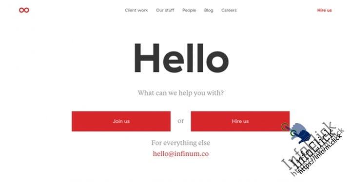 Пример страницы контактов