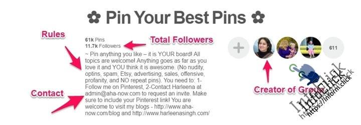 Найти и присоединиться к доскам группы Pinterest