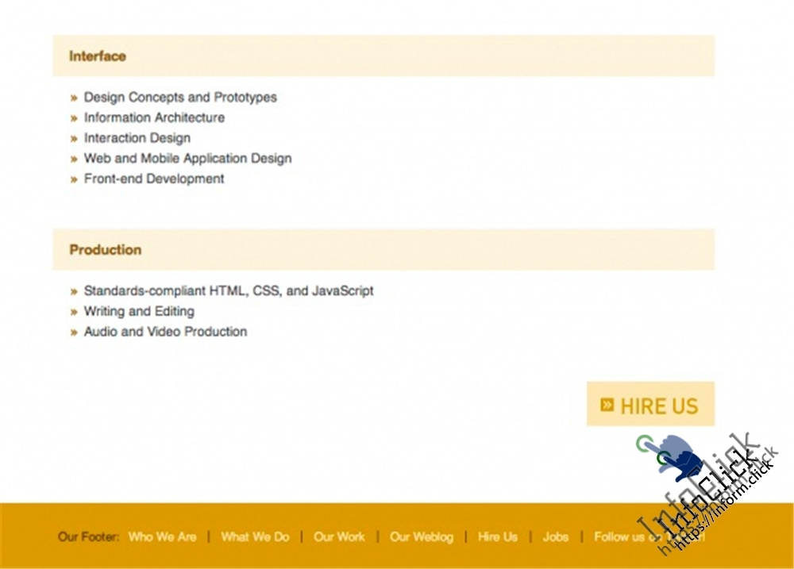 Пример страницы сервиса